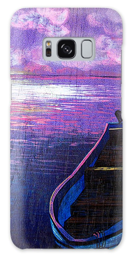 Purple Galaxy S8 Case featuring the painting Canoe by Deb Wolf