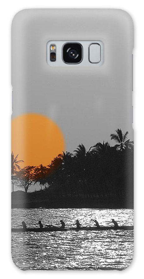 Sunsets Galaxy S8 Case featuring the photograph Canoe Ride In The Sunset by Athala Carole Bruckner