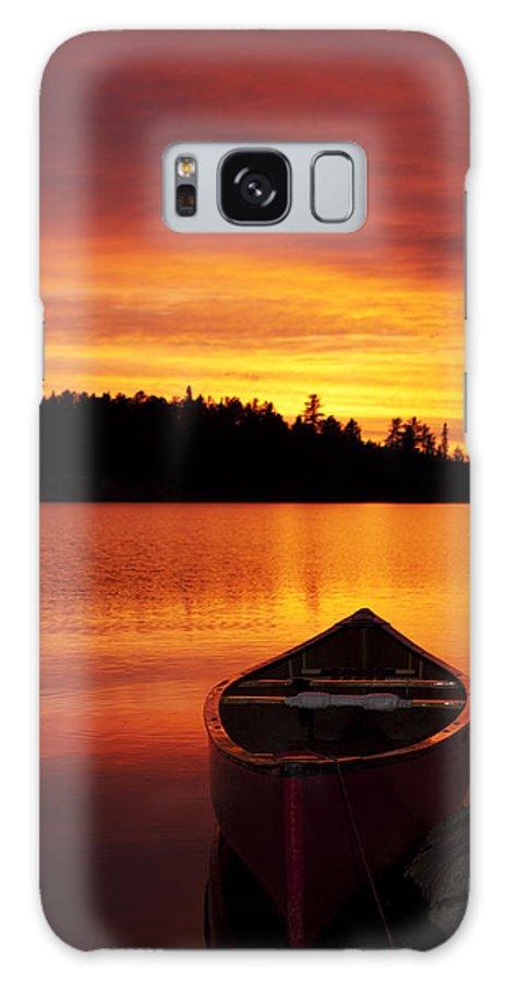 Canoe Photograph Galaxy S8 Case featuring the photograph Canoe Sunset by Nebojsa Novakovic