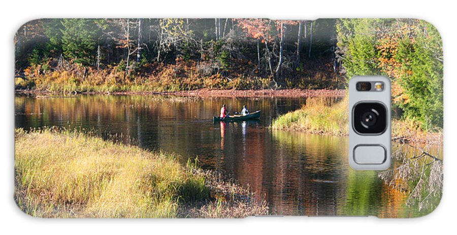Fall Galaxy S8 Case featuring the photograph Canoeing In The Fall by Mariarosa Rockefeller