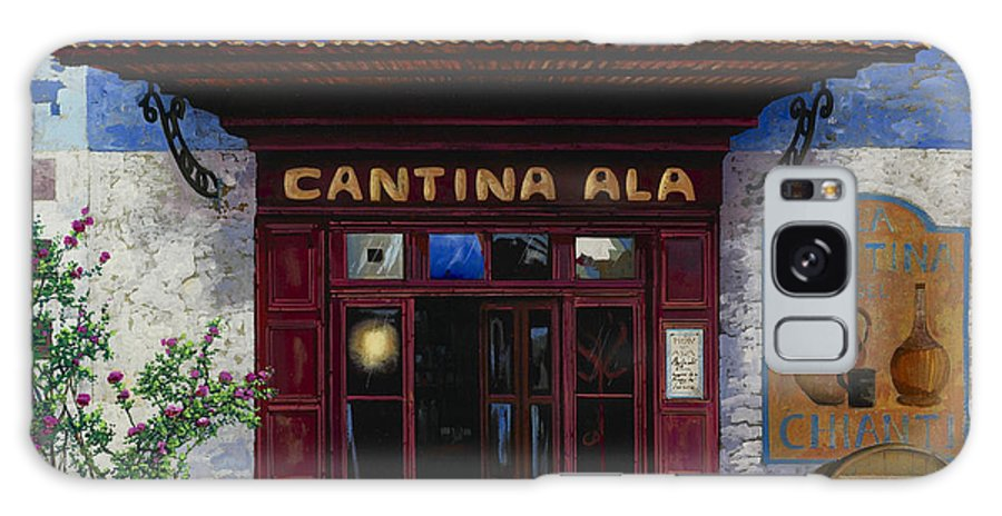 Cantina Galaxy Case featuring the painting cantina Ala by Guido Borelli