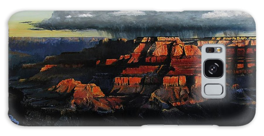 Grand Canyon Galaxy Case featuring the painting Canyon Colors by David Mittner