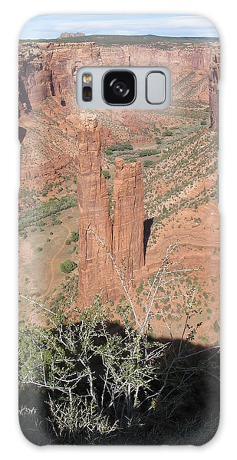 Canyon Galaxy S8 Case featuring the photograph Canyon De Chelly Spider Rock by Christiane Schulze Art And Photography