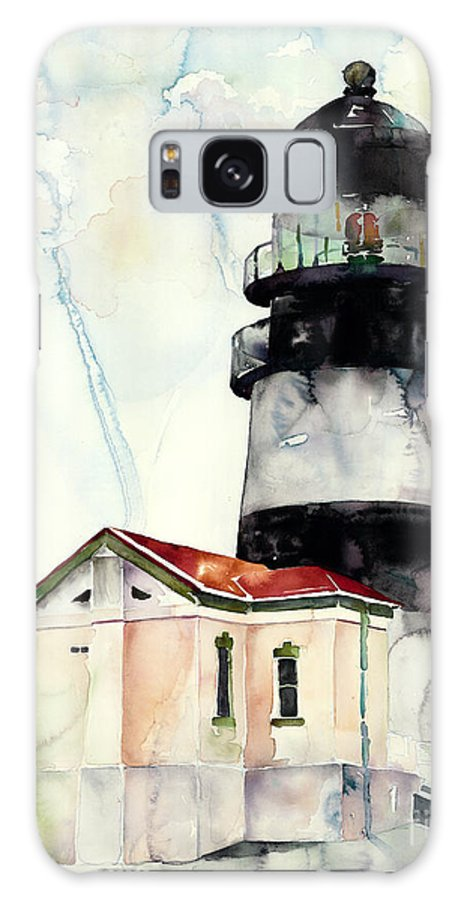 Lighthouse Galaxy S8 Case featuring the painting Cape Disappointment by Carla Palmer