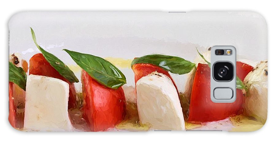 Appetizer Galaxy S8 Case featuring the photograph Caprese Mozzarella And Tomatoes by Roberto Giobbi