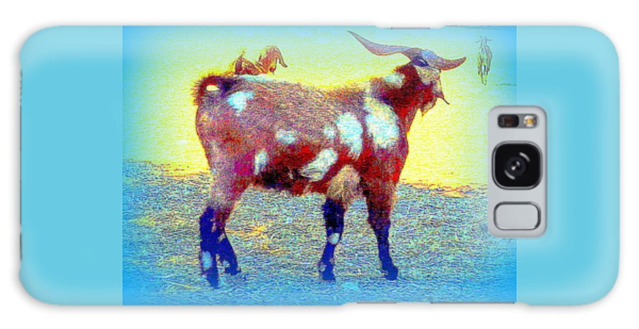 Goat Galaxy S8 Case featuring the photograph Come And See The Capricorny World Before It Disappears by Hilde Widerberg
