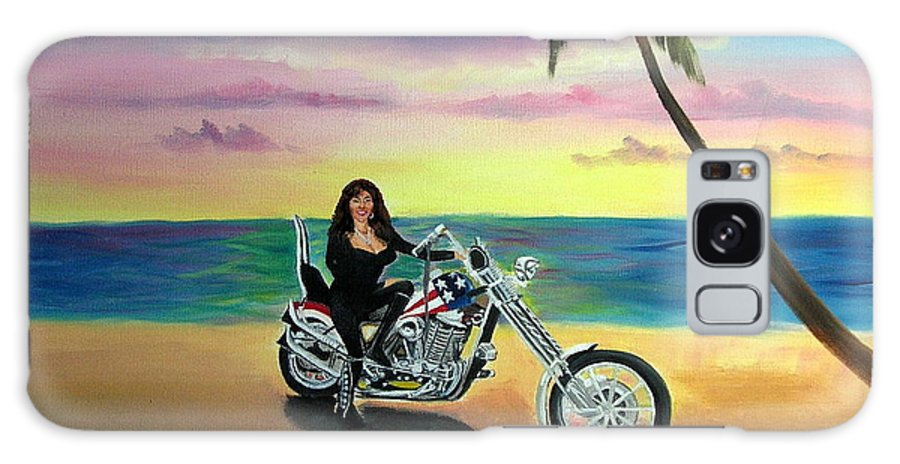 Harley Davidson Galaxy Case featuring the painting Captain America by Lora Duguay