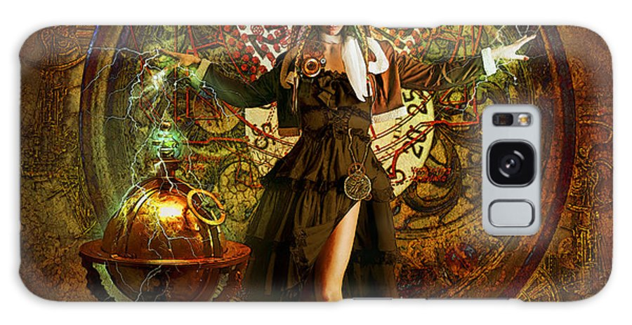 Fatasy Galaxy S8 Case featuring the digital art Captain Persephone by Aimee Stewart