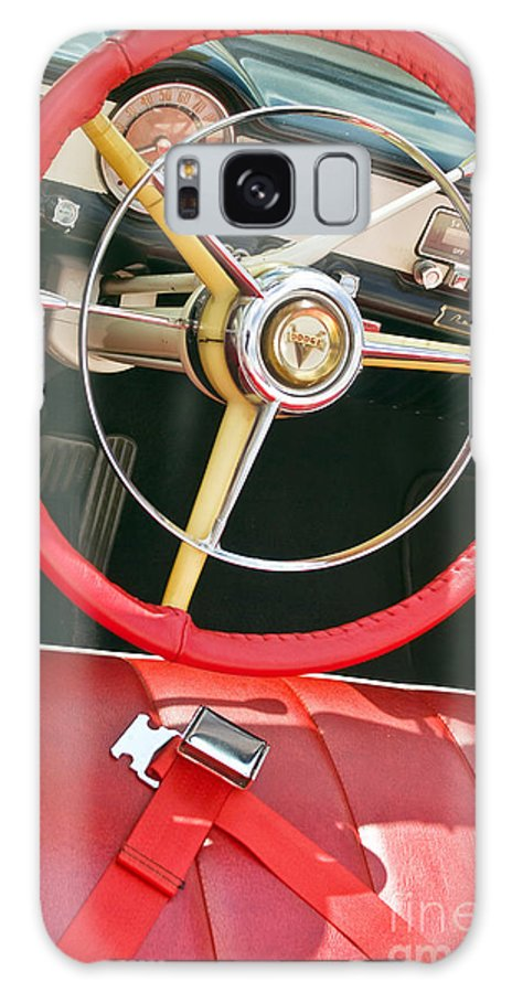 Car Interior Galaxy S8 Case featuring the photograph Car Interior Red Seats And Steering Wheel by David Zanzinger