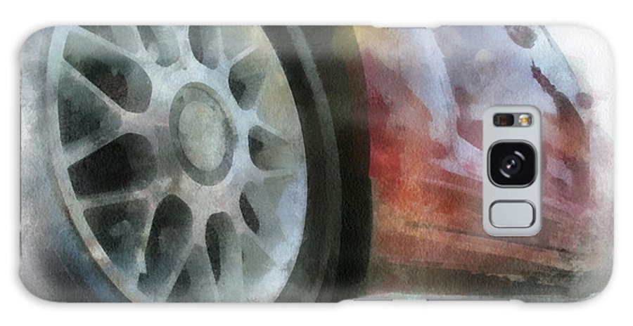 Aluminum Galaxy S8 Case featuring the photograph Car Rims 01 Photo Art 01 by Thomas Woolworth