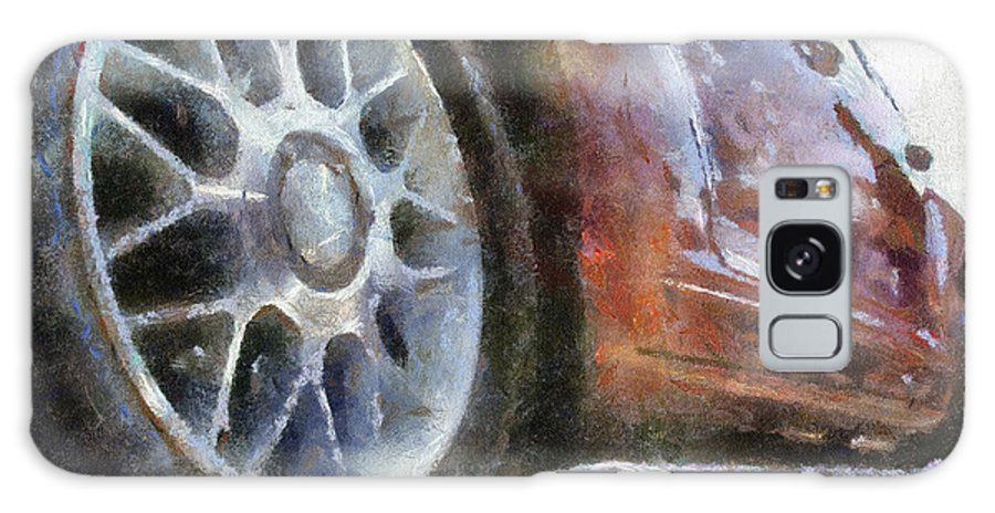 Aluminum Galaxy S8 Case featuring the photograph Car Rims 01 Photo Art 02 by Thomas Woolworth