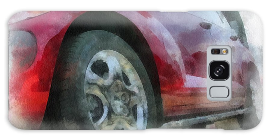 Aluminum Galaxy S8 Case featuring the photograph Car Rims 04 Photo Art 01 by Thomas Woolworth