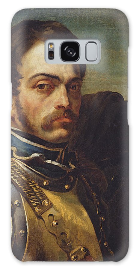 Male Galaxy S8 Case featuring the photograph Carabinier Officer With His Horse, C.1814 Oil On Canvas by Theodore Gericault