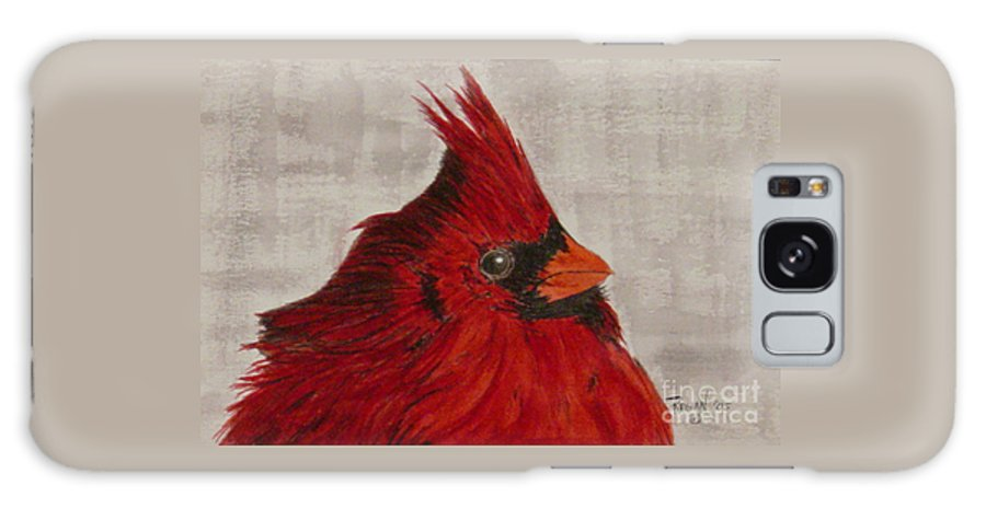 Cardinal Galaxy Case featuring the painting Cardinal by Regan J Smith