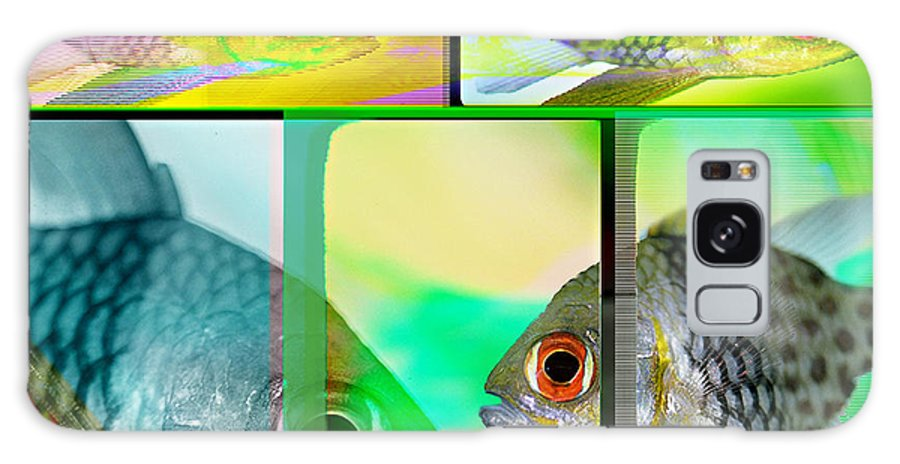 Fish Abstract Galaxy S8 Case featuring the digital art Cardinalfish Abstract by Wernher Krutein
