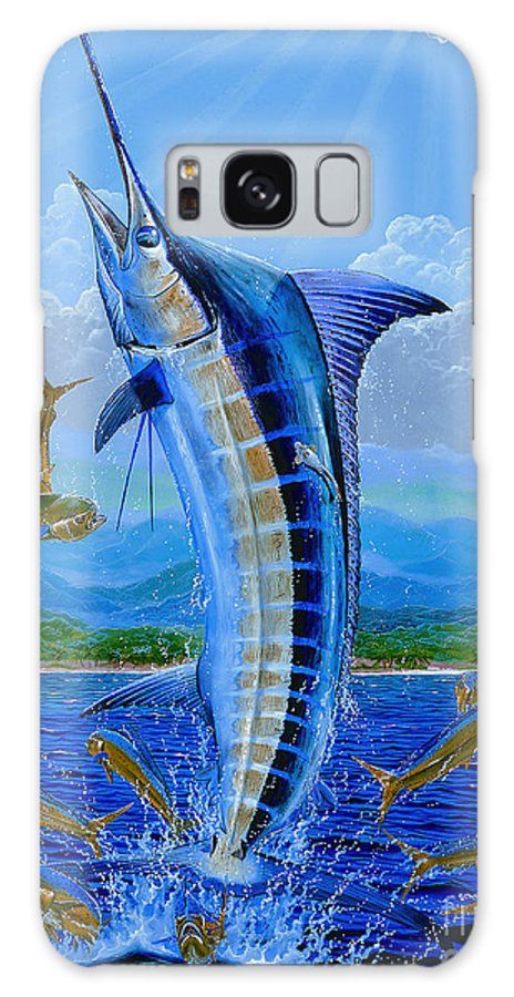Blue Marlin Galaxy S8 Case featuring the painting Caribbean Blue Off0041 by Carey Chen