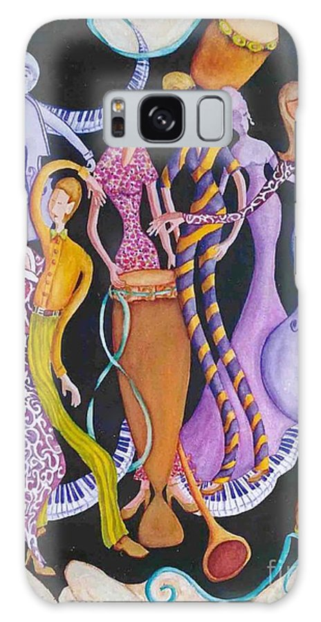 Dancers Galaxy S8 Case featuring the painting Caribbean Calypso by Arleen Barton