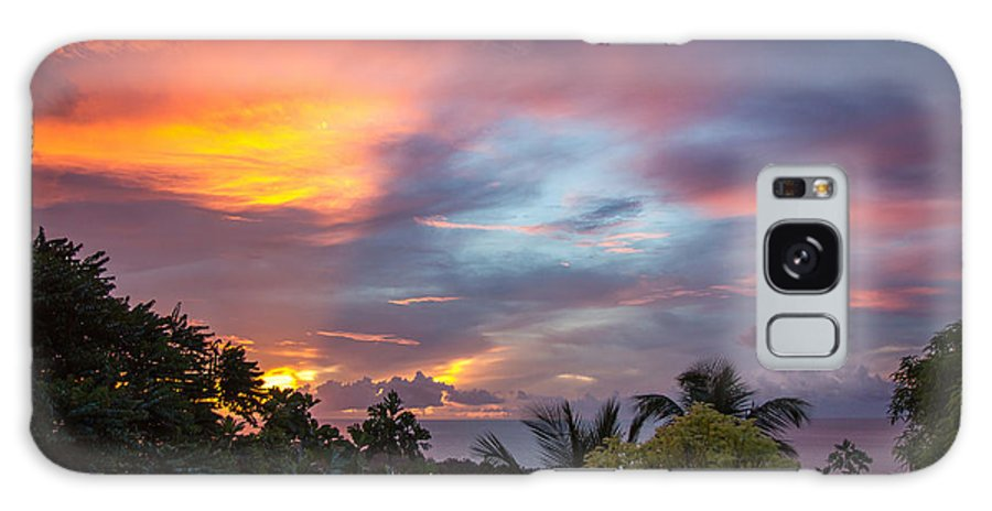 Sunset Galaxy S8 Case featuring the photograph Caribbean Colors by Hugh Stickney