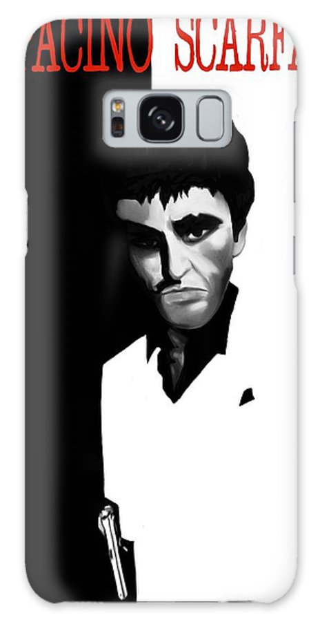 Scar Galaxy S8 Case featuring the painting Caricature Of Scarface by Nathan Craig Cruz
