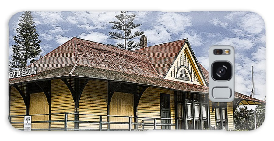 Carlsbad Galaxy S8 Case featuring the digital art Carlsbad Railroad Depot by Photographic Art by Russel Ray Photos