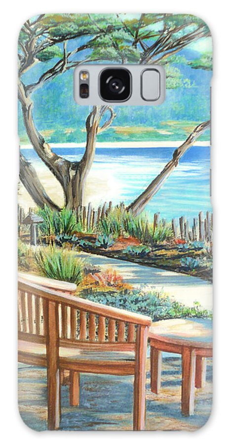 Carmel Galaxy S8 Case featuring the painting Carmel Lagoon View by Jane Girardot