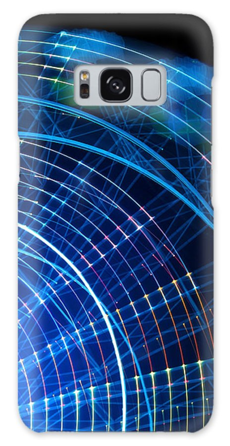 Ferris Galaxy S8 Case featuring the photograph Carnival Trails by Kaleidoscopik Photography