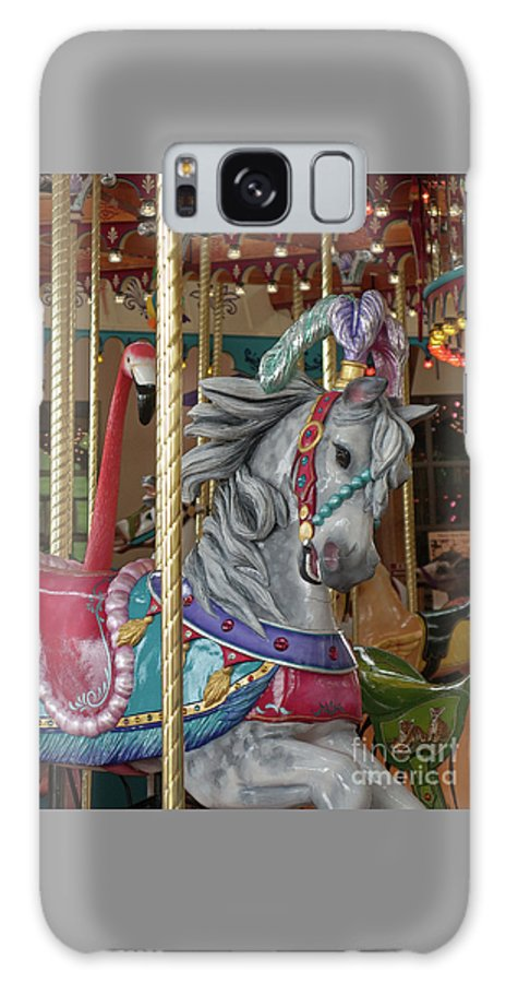 Carousel Galaxy S8 Case featuring the photograph Carousel Go Round by Ann Horn