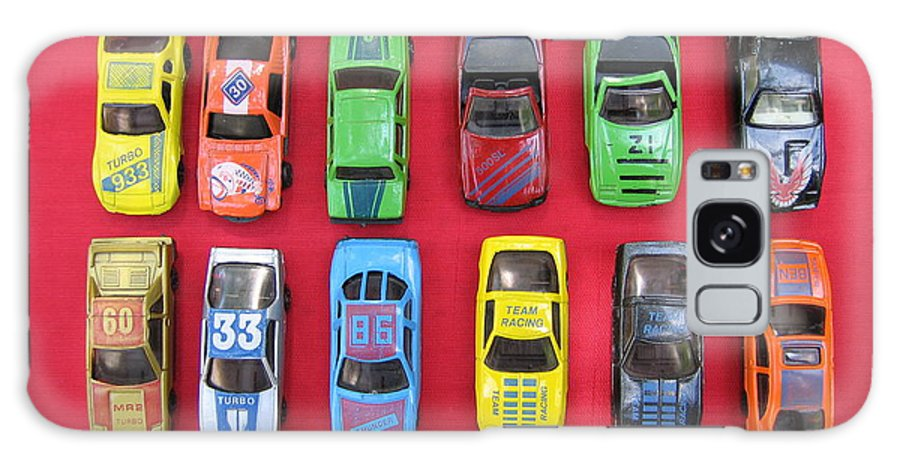 #vintage #toys #photography Galaxy S8 Case featuring the photograph Cars On The Wall by Florinel Nicolai Deciu