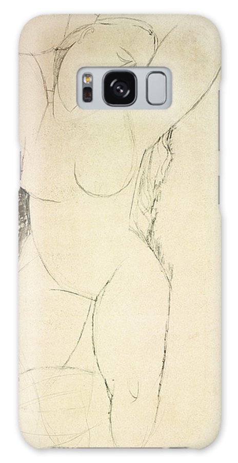 Caryatid Galaxy S8 Case featuring the drawing Caryatid by Amedeo Modigliani