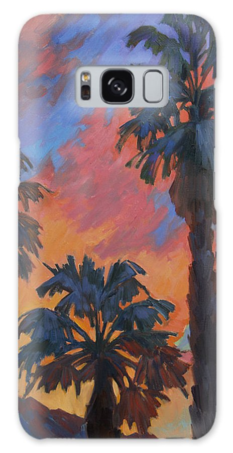 Casa Tecate Galaxy S8 Case featuring the painting Casa Tecate Sunrise by Diane McClary