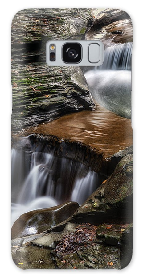 Office Decor Galaxy S8 Case featuring the photograph Cascading Glen by Mark Papke