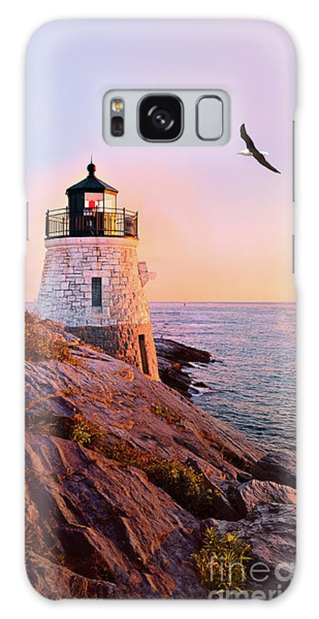 Castle Hill Lighthouse Galaxy S8 Case featuring the photograph Castle Hill Lighthouse 2 Newport by Marianne Campolongo