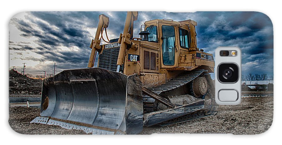 Bulldozer Galaxy Case featuring the photograph Cat Bulldozer by Mike Burgquist