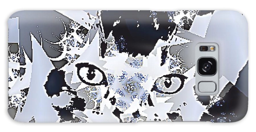 Cat Eyes Fractal Figures Galaxy S8 Case featuring the digital art Cat In Fractaldesign by Angelica G-N Zizela