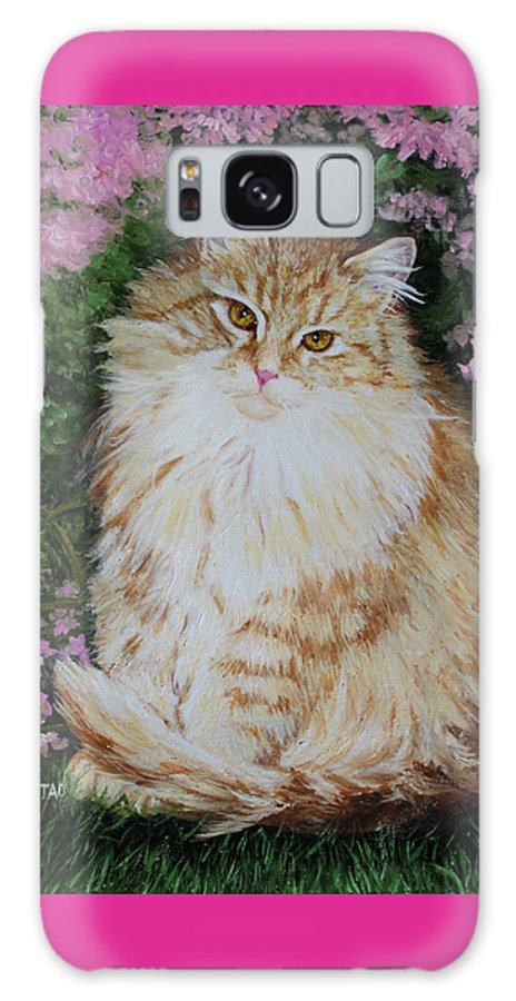 'cat Print Fine Art Galaxy Case featuring the painting Kitten Cat Painting Perfect For Child's Room Art by Diane Jorstad