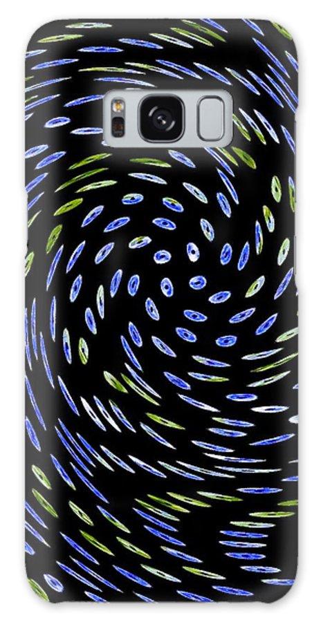 Cat Tail Swirl Galaxy S8 Case featuring the digital art Cat Tail Swirl by Darla Wood