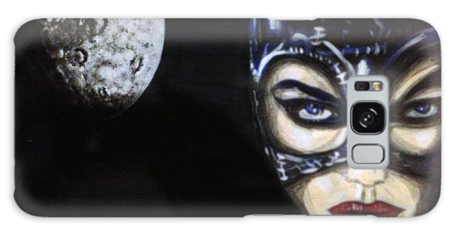 Cat Woman Galaxy S8 Case featuring the painting Cat Woman by Danny Anderson