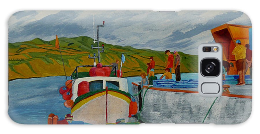 Boats Galaxy Case featuring the painting Catch Of The Day by Anthony Dunphy