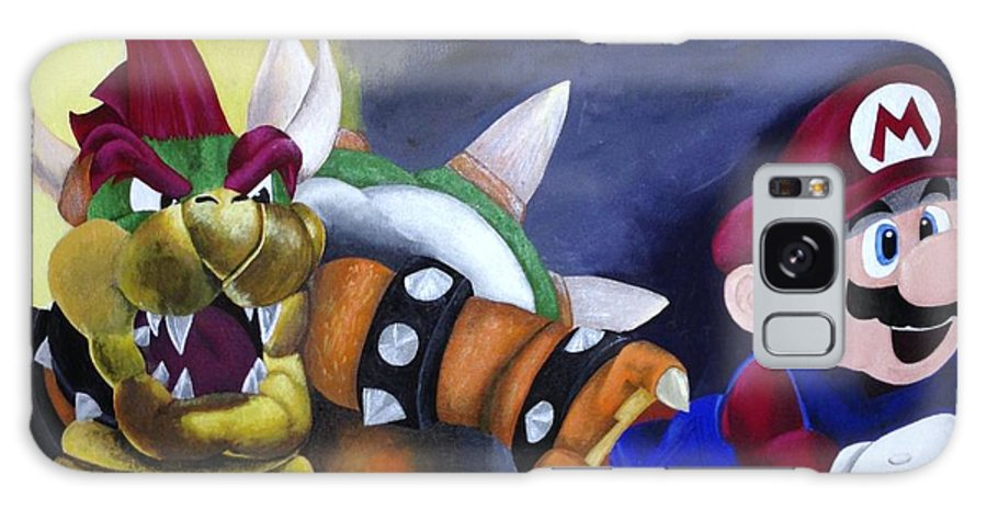 Mario Galaxy S8 Case featuring the painting Catch The Plumber by Jamie Blackbourn