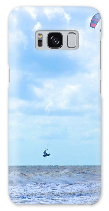 Kite Surfing Galaxy S8 Case featuring the photograph Catching Air by Tara Potts