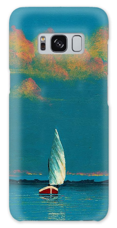 Landscape Painting Galaxy S8 Case featuring the painting Catching The Breeze by Edith Peterson