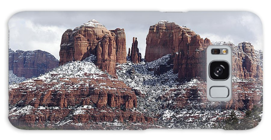 Horizontal Galaxy S8 Case featuring the photograph Cathedral Rock In Winter Arizona by Patrick McGill