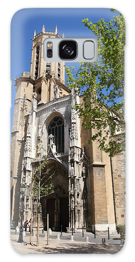 Cathedral Galaxy S8 Case featuring the photograph Cathedral St Sauveur - Aix En Provence by Christiane Schulze Art And Photography