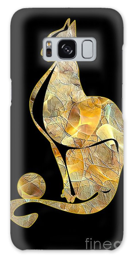 Cats Galaxy S8 Case featuring the digital art Cats 074-13 Marucii by Marek Lutek