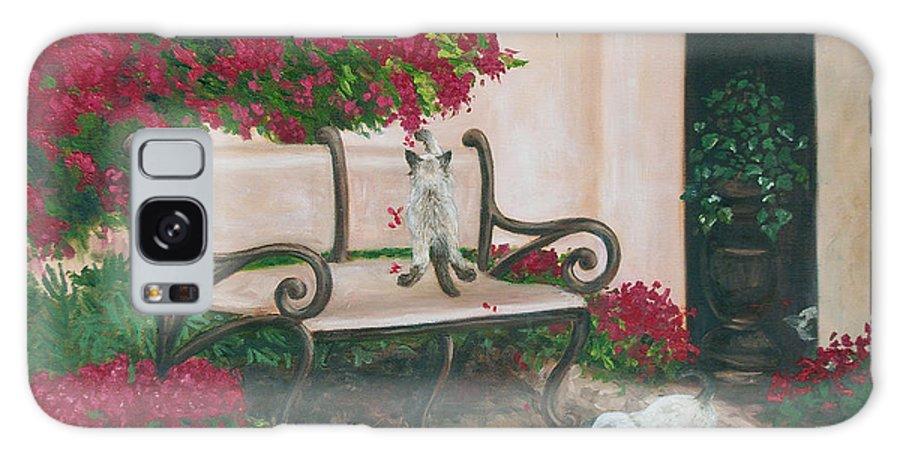 Cat Fine Art Galaxy Case featuring the painting Cat Art Print On Canvas Oil Painting Hire Commission Pet Portrait Artist by Diane Jorstad