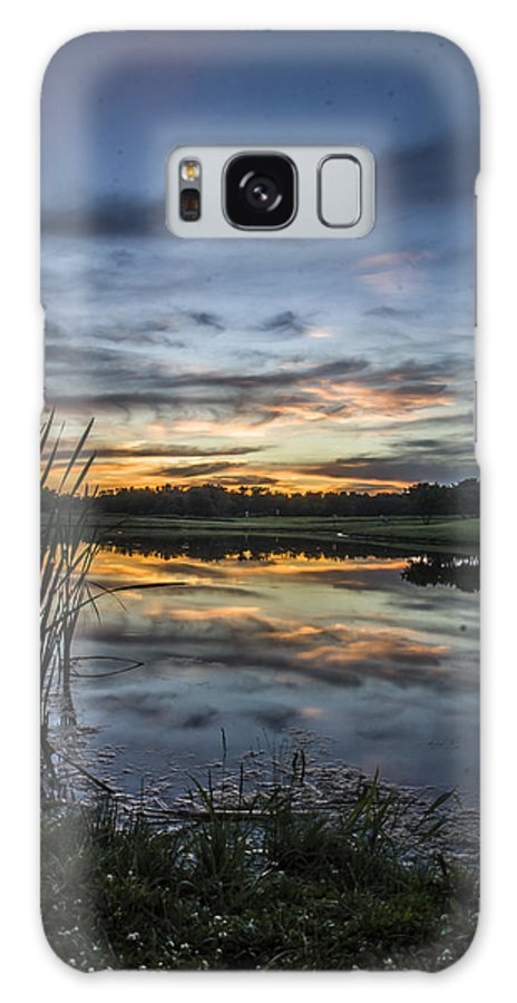 Galaxy S8 Case featuring the photograph Cattails And Sunset by Paul Brooks