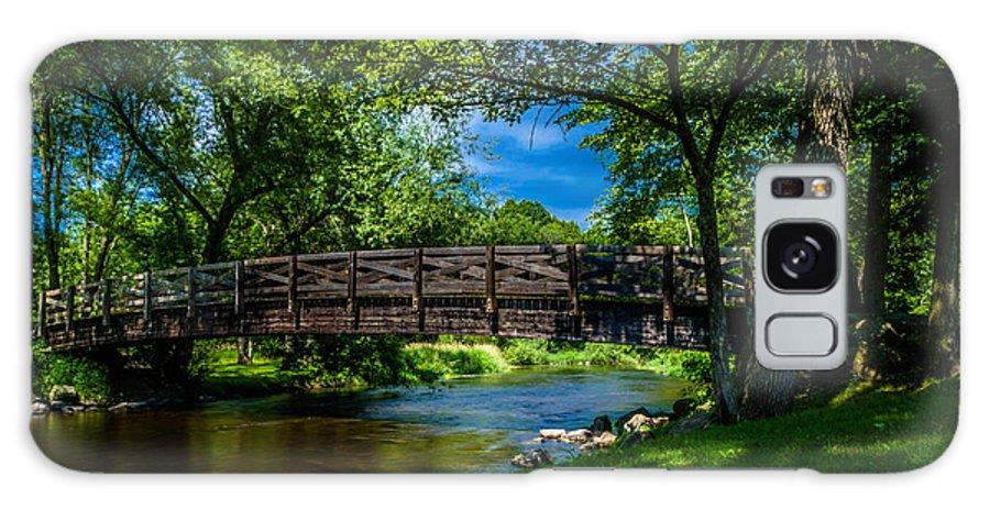 Cedar Creek Galaxy S8 Case featuring the photograph Cedar Creek Bridge by Randy Scherkenbach