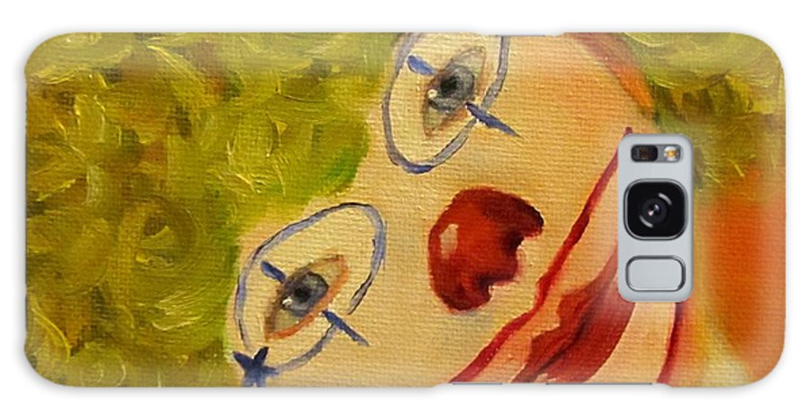 Boy Galaxy S8 Case featuring the painting Cee-cee, Child Clown by Sandra Reeves