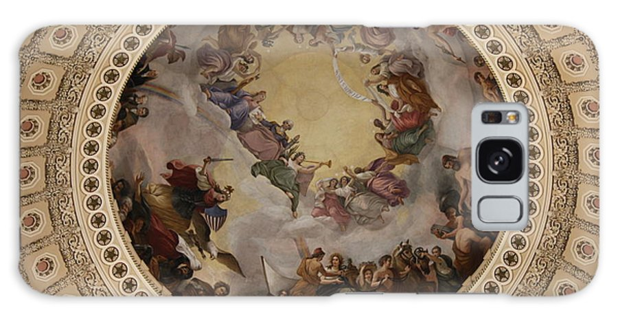 Cupola Galaxy S8 Case featuring the photograph Ceiling Fresco - Cupola Capitol Washington Dc by Christiane Schulze Art And Photography