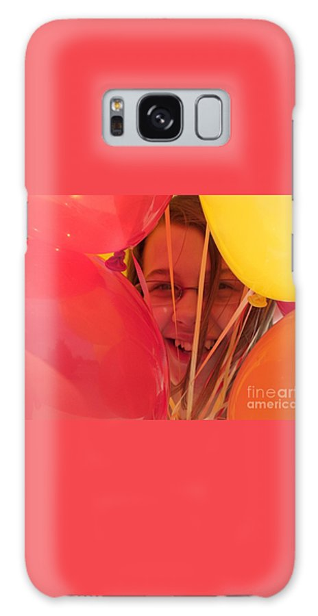 Balloons Galaxy S8 Case featuring the photograph Celebrating by Ann Horn